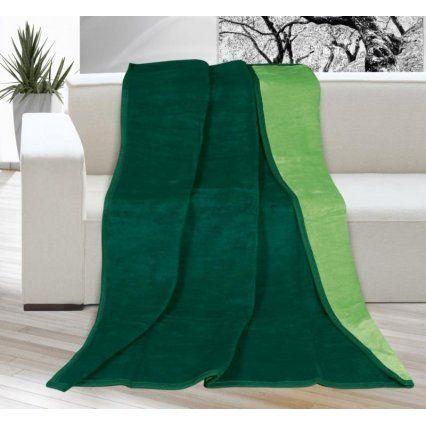 Deka akryl - zelená tmavá